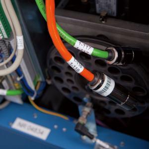 Brother TZEFX231 etichete originale flexibile 12mm x 8m, negru pe alb, PTouch laminate, pentru identificare cabluri si fire TZe-FX2312