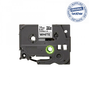Brother TZEFX231 etichete originale flexibile 12mm x 8m, negru pe alb, PTouch laminate, pentru identificare cabluri si fire TZe-FX2311