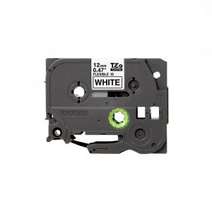 Brother TZEFX231 etichete originale flexibile 12mm x 8m, negru pe alb, PTouch laminate, pentru identificare cabluri si fire TZe-FX2310