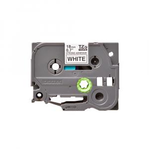 Brother TZES241 etichete originale adeziv puternic 18mm x 8m, negru pe alb, PTouch laminate, utilizare la interior sau exterior, rezistenta la apa TZe-S2410