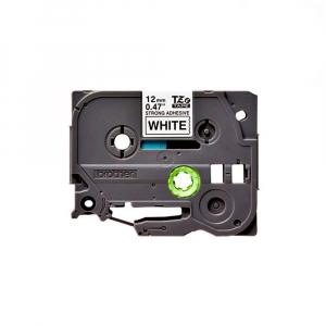 Brother TZES231 etichete originale adeziv puternic 12mm x 8m, negru pe alb, PTouch laminate, utilizare la interior sau exterior, rezistenta la apa TZe-S2310