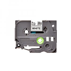 Brother TZES221 etichete originale adeziv puternic 9mm x 8m, negru pe alb, PTouch laminate, utilizare la interior sau exterior, rezistenta la apa TZe-S2210