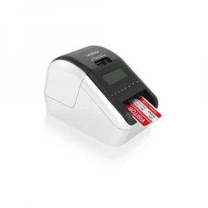 Brother QL-820NWB, imprimanta termica profesionala etichete, ultra flexibila, optiuni multiple conectivitate WLAN, Bluetooth 2.1, USB 2.0, Afisaj LCD, Cutter automat, printare negru si rosu8