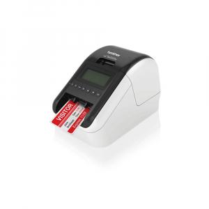 Brother QL-820NWB, imprimanta termica profesionala etichete, ultra flexibila, optiuni multiple conectivitate WLAN, Bluetooth 2.1, USB 2.0, Afisaj LCD, Cutter automat, printare negru si rosu7