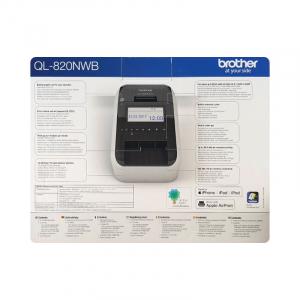Brother QL-820NWB, imprimanta termica profesionala etichete, ultra flexibila, optiuni multiple conectivitate WLAN, Bluetooth 2.1, USB 2.0, Afisaj LCD, Cutter automat, printare negru si rosu11