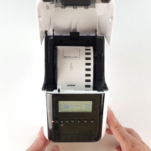 Brother QL-820NWB, imprimanta termica profesionala etichete, ultra flexibila, optiuni multiple conectivitate WLAN, Bluetooth 2.1, USB 2.0, Afisaj LCD, Cutter automat, printare negru si rosu9