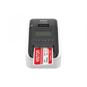 Brother QL-820NWB, imprimanta termica profesionala etichete, ultra flexibila, optiuni multiple conectivitate WLAN, Bluetooth 2.1, USB 2.0, Afisaj LCD, Cutter automat, printare negru si rosu0
