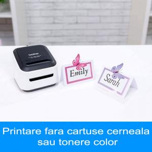 Brother VC-500W imprimanta termica multifunctionala compacta pentru etichete full color, conectare Wireless sau USB, tehnologie printare ZINK Zero Ink, 313 DPI, App gratuit8