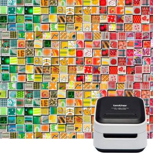 Brother VC-500W imprimanta termica multifunctionala compacta pentru etichete full color, conectare Wireless sau USB, tehnologie printare ZINK Zero Ink, 313 DPI, App gratuit10
