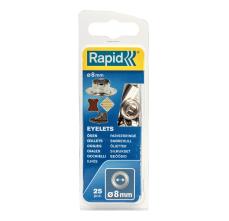 Ocheti Rapid  - diametrul de 8 mm, aluminiu, sistem fixare inclus, 25buc/ blister0