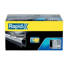Capse Rapid 36/14 mm, plastifiate alb, divergente, 1.000/ cutie1