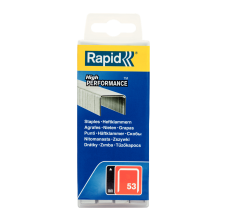 Capse Rapid 53/8 mm, galvanizate, 5.000/ cutie polipropilena1