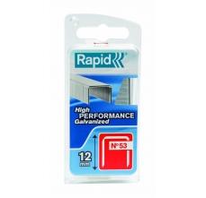 Capse Rapid 53/12 mm, otel, 1.080/ blister0