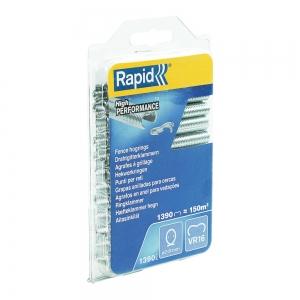 Rapid VR16/2-8mm Fence HOG rings, galvanized, 1390 pcs/blister9