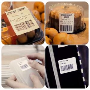 Etichete termice plastic transparent 40 x 30mm, permanente, 1 rola, 230 etichete/rola, pentru imprimanta AYMO M2004