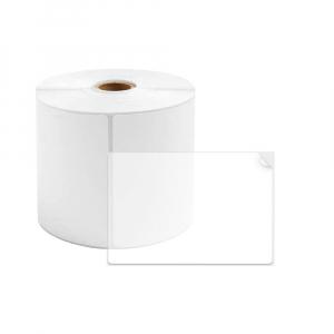 Etichete termice plastic transparent 40 x 60mm, permanente, 1 rola, 130 etichete/rola, pentru imprimanta AYMO M2000