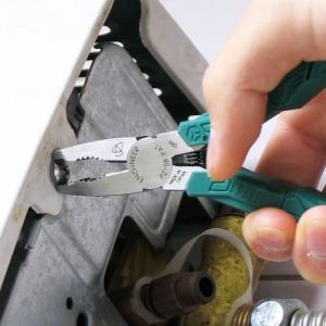 Foarfeca multifunctionala ENGINEER PH-55, cleste patent combinat extragere suruburi uzate ENGINEER PZ-58, masca PZ-58, cutie cadou din lemn pauwlonia, fabricat in Japonia PGT034