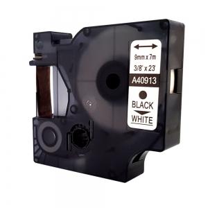 Etichete autocolante, DYMO LabelManager D1, compatibile, 9mm x 7m, negru/alb, 40913 S0720680-C5