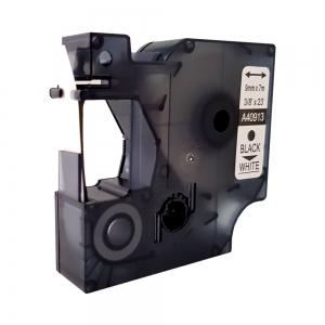 Etichete autocolante compatibile, 9mm x 7m, negru/alb, 40913 S0720680-C6