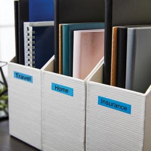 Etichete autocolante compatibile, 12mm x 7m, negru/albastru, 45016 S0720560-C1