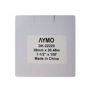 Etichete termice autocolante compatibile, Brother DK-22225, hartie alba, modul continuu, 38mmx30.48m, suport din plastic inclus DK22225, 2 role/set5