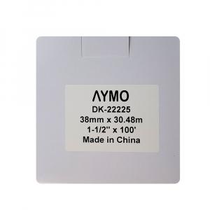Etichete termice autocolante compatibile, Brother DK-22225, hartie alba, modul continuu, 38mmx30.48m, suport din plastic inclus DK22225, 4 role/set5