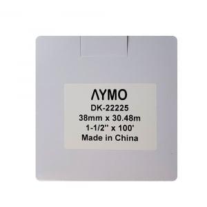 Etichete termice autocolante compatibile, Brother DK-22225, hartie alba, modul continuu, 38mmx30.48m, suport din plastic inclus DK22225, 10 role/set5
