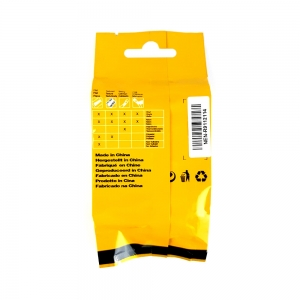 Etichete industriale autocolante compatibile vinil, 9mm x 5.5m, negru/alb, S0718580-C 184438