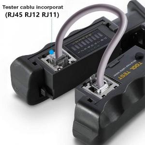 Cleste modular 4 in 1 Haicable decablare, taiere, sertizare si testare cabluri, RJ45 RJ12 RJ11 HT-N568CR1