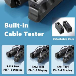Cleste modular 4 in 1 Haicable decablare, taiere, sertizare si testare cabluri, RJ45 RJ12 RJ11 HT-N568CR4