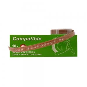 Etichete plastic embosabile compatibile Omega, 9mmx3m, furnir, A520111 S0898130-43