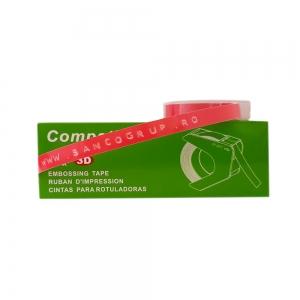 Etichete plastic embosabile compatibile Omega, 9mmx3m, roz, A520105 S0898150-C2