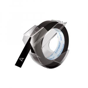Etichete plastic embosabile DYMO Omega, 9mmx3m, negru, S0898130 S0847720 S08477300