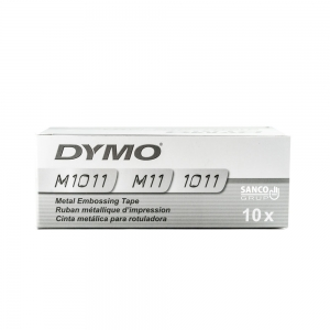Industrial embossing labels DYMO, 12mmx3,65m, aluminum adhesive, 35800 S072018015