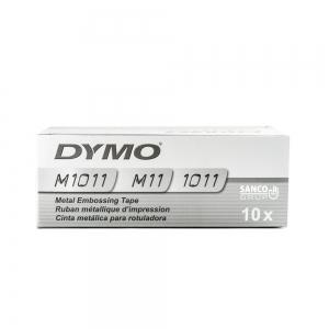 Etichete metalice embosabile industriale DYMO, 12mmx3,65m, aluminiu adeziv, 35800 S072018015