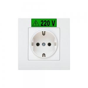 Etichete industriale autocolante, DYMO ID1 vinil, 12mm x 5.5m, alb/verde, 18054143