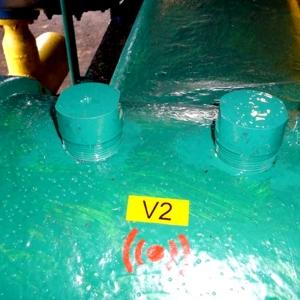 Etichete industriale autocolante, DYMO ID1 vinil, 24mm x 5.5m, negru/galben, 18054315