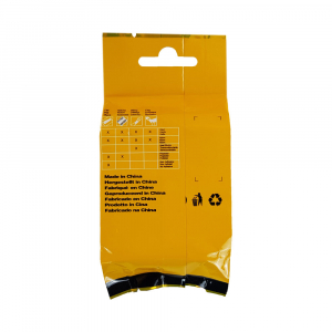 Etichete industriale autocolante compatibile, DYMO ID1, poliester permanent, 19mm x 5.5m, negru/alb, 18484 18484-C5
