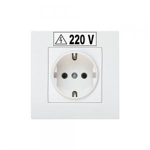 Etichete industriale autocolante, DYMO ID1, poliester permanent, 12mm x 5.5m, negru/alb, 18483 S07182105