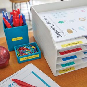 Aparat de etichetat (imprimanta etichete) DYMO LabelManager 160P, QWERTY si 3 benzi originale Dymo, rosu, galben si albastru1