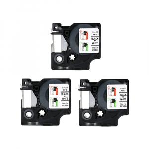 Dymo Labelmanager 160P starter kit, setul include 3 benzi D1 12mm x 7m, negru/alb originale 450135
