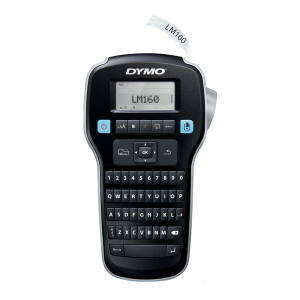 Dymo Labelmanager 160P starter kit, setul include 3 benzi D1 12mm x 7m, negru/alb originale 450137