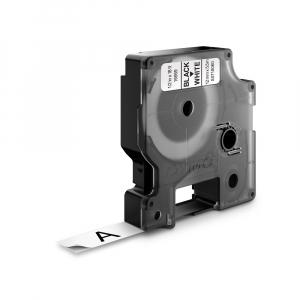 Aparat etichetat (imprimanta etichete) DYMO LabelManager 210D, AZERTY si 1 banda industriala poliester D1, 12mm x 5.5m, negru/alb, S0784460, 1695912