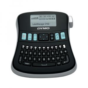 Aparat de etichetat (imprimanta etichete) DYMO LabelManager 210D Kit, QWERTY, include 2 adaptoarea la 230V si 1 caseta Dymo Labelmanager poliester 12mm x 5.5m, 2094492, 169598