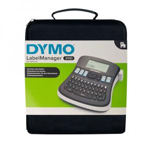 Aparat de etichetat (imprimanta etichete) DYMO LabelManager 210D Kit, QWERTY, include 2 adaptoarea la 230V si 1 caseta Dymo Labelmanager poliester 12mm x 5.5m, 2094492, 1695914