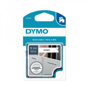 Aparat de etichetat (imprimanta etichete) DYMO LabelManager 210D, QWERTY, Kit  si 1 banda industriala poliester D1, 12mm x 5.5m, negru/alb, S0964070, 1695912