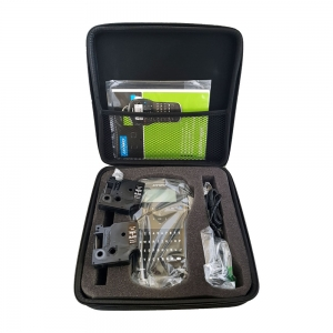Aparat de etichetat (imprimanta etichete) DYMO LabelManager 280P, QWERTZ, kit cu servieta si 1 caseta etichete profesionale D1, 12mm x 7m, negru/alb, S0968990, 4501313