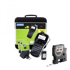 Aparat de etichetat (imprimanta etichete) DYMO LabelManager 280P, QWERTZ, kit cu servieta si 1 caseta etichete profesionale D1, 12mm x 7m, negru/alb, S0968990, 450130