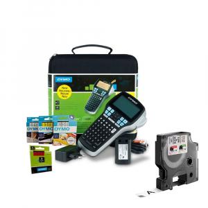 Aparat etichetat (imprimanta etichete) DYMO LabelManager 420P, ABC, kit cu servieta, conectare la PC si 1 caseta etichete profesionale D1, 12mm x 7m, negru/alb, S0915480, 450130