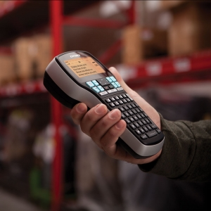 Aparat de etichetat profesional DYMO LabelManager 420P ABC si 1 banda industriala poliester D1, 12mmx5.5m, negru/alb, 16959, S09154402